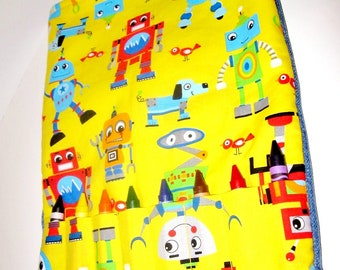 Handmade Kids crayon tote travel tote Gifts Yellow Children Toys