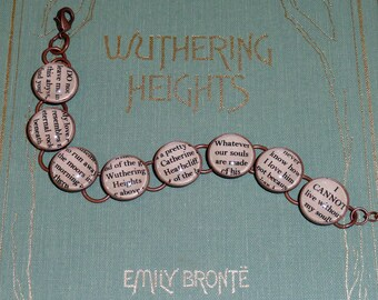 Wuthering Heights Emily Bronte Bracelet in SILVER