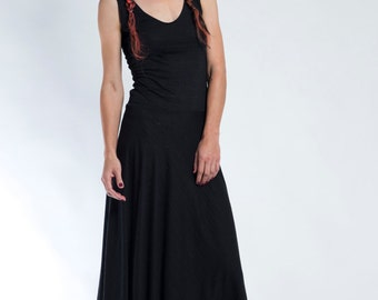 Black Maxi Dress, Sleeveless Dress, Summer Dress, Open Back Dress, Evening Dress, Lace Dress, Long Dress, Boho Chic Dress, Lace Tank Dress