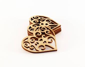 Unique Wood heart, Wedding favors,  Heart shape, Wooden heart shape, Wood tags, Heart tags, Wedding hearts, Wood heart tags, Heart rustic