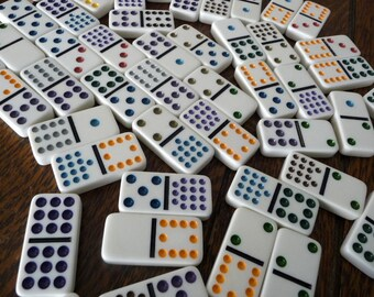 Dominoes White Color Dots 52 Pieces (IA)