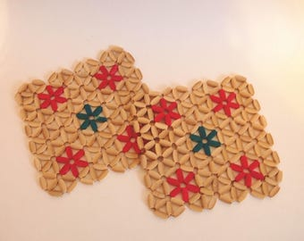 Set of 1970s Wooden Beaded Trivets