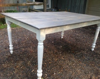Rustic Cottage Farm Table - Up To 8' Length!
