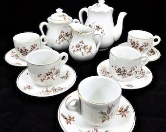 Antique Child's KT&K China Tea Set, Knowles Tea and Dessert Set, 1880s Children's Tea Set