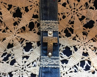 Denim Crss Bracelet