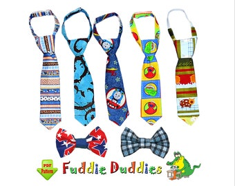 Boys Tie Pattern & Bow Tie Pattern PDF, Necktie Sewing Pattern for Babies, Boys. Kids Children Sewing Pattern. INSTANT DOWNLOAD. Noah