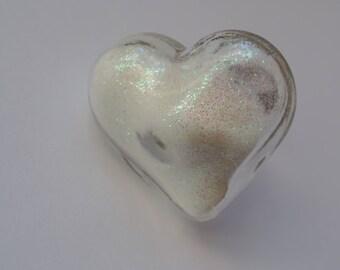 heart shape glass ring