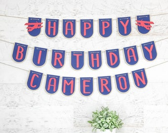 Airplane party Banner - Plane Party - Airplane Banner - Airplane Party Decor - Plane Birthday banner