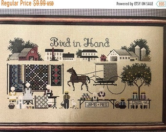 MAYniaSALE Told in a Garden, Bird In Hand, Counted Cross Stitch Pattern
