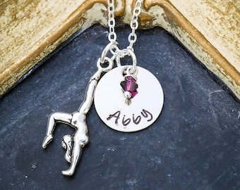 Gymnast Gift Gymnastics Necklace • Gymnastics Coach Gift Girls Gymnast Charm • Personalized Gymnastics Class Gift Performance