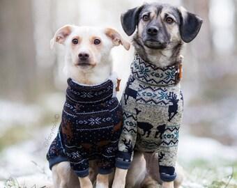 Fleece dog clothes, Warm dog pullover, Custom dog clothes, dog sweater, Hundemantel, Dog jacket, Dog coat, All breeds, Fair Isle