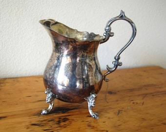 Vintage Ornate Silver Plated Pitcher Vintage English Silver Mfg Corp Water Pitcher from The Eclectic Interior