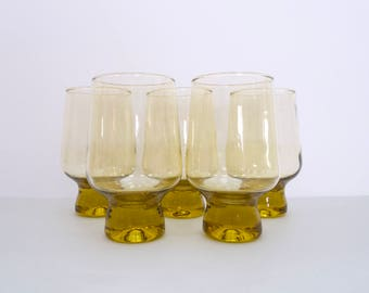 Crown Corning 'Regis' honey tumblers (large), set of five