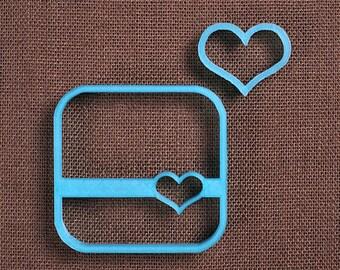 Heart Square Cookie Cutter Set, Square Plaque Cookie Cutter, 3D Printed Cookie Cutters, Mini Heart Cookie Cutter, Wedding Cookie Cutters