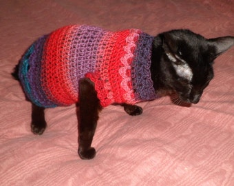 CROCHET CAT SWEATER