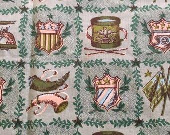 Vintage Lexington American Fabric 116 x 79