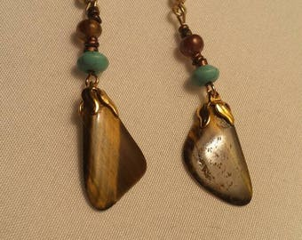Tigers Eye Danglers