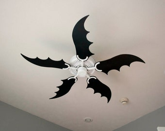 Custom ceiling fan blades made just for you batwing fan blades audiocablefo