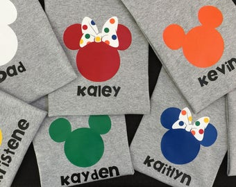 Custom Family Disney Shirt: A Colorful Disney Collection (You choose the colors!)