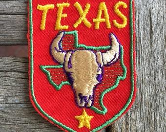 Texas Vintage Travel Souvenir Patch by Voyager