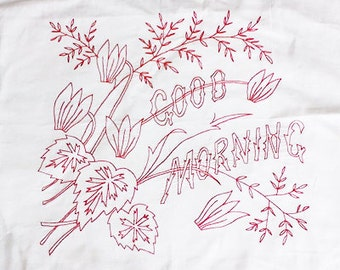 Embroidery PDF - Vintage - Good Morning