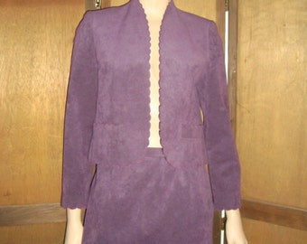80's Purple Ultra Suede Suit