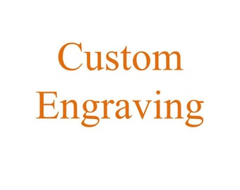 Add On Item - Custom Engraving on Wooden Plaque Orders