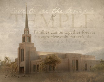 Gila Valley Arizona LDS Temple Print 16x20
