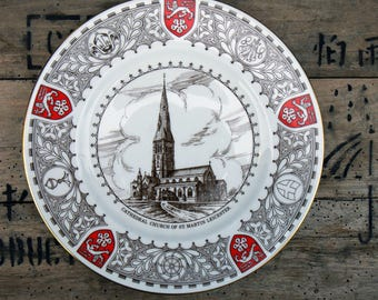 Vintage 1977 Commemorative Plate Church of St Marks Leicester