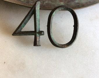 Copper Metal Numbers 40