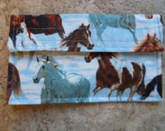 NEW SMALLER Horse Coupon Holder / Organizer / Receipt/ Gift Card Holder