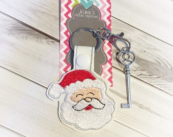 Santa Keychain - Santa Claus Keychain - Skelton Key Keychain - Santa Key Chain -Magic Santa Keychain - Santa's Magic Keychain