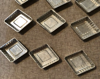 9 Vintage Diamond shaped Jello Molds