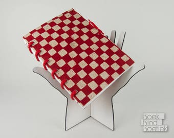Synthcord Notebooks Red Checkered