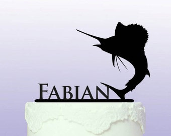 Personalised Sport Fishing Cake Topper