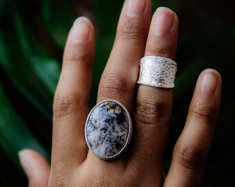 Tree agate silver ring / One of a kind and Handmade.
