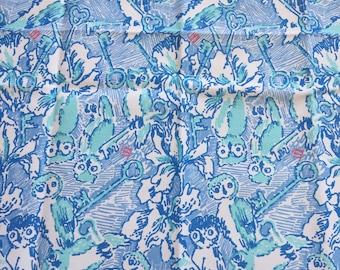 "Lilly Kappa Kappa Gamma KKG Fabric 18"" Square or By The Yard"