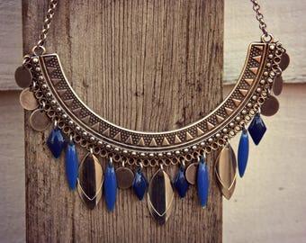 Boho Necklace, Choker Necklace, Ethnic Necklace, Woman Necklace, Ethnic Silver Necklace, Bohemian Necklace, Silver Necklace, Charms Necklace