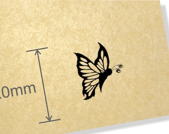 Clear Acrylic Stamp. Tribal Butterfly stamp