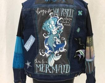 Denim mermaid jacket