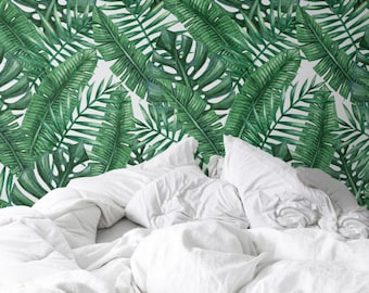 Palm Monstera Leaf Wallpaper Removable Wallpaper