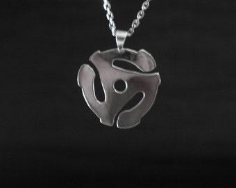 Sterling silver 45 adaptor pendant
