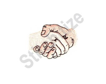 Handshake - Machine Embroidery Design