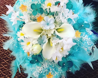 Feathers and Flair Bridal Bouquet