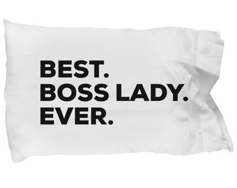 Boss Lady Pillow Case, Gifts For Boss Lady , Best Boss Lady Ever, Boss Lady Pillowcase, Christmas Present, Boss Lady Gift