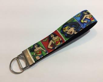 Wonder Woman Comis Strip Keychain Wristlet Key Fob