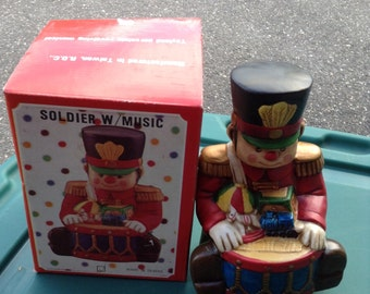 Reduced Sale / New Christmas soldier with music