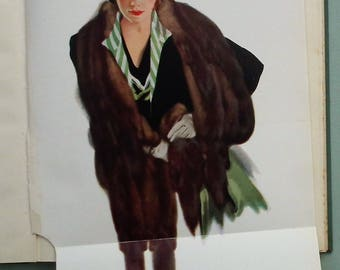 Modern Fashion Drawing Dora Shackell Second Edition 1937 - vintage 1930s art book costumes clothing 30s Vogue fashion illustration