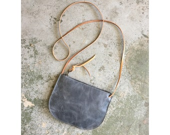 Limited Edition Luna Crossbody Denim Blue • Small Leather Bag