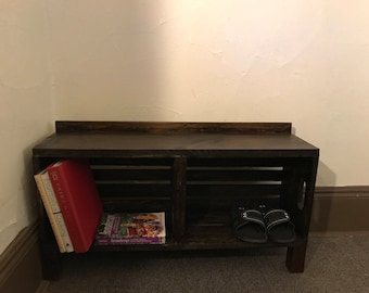 Crate Bench, Wooden Bench, Entry Bench, Wood Furniture, Wood Bench, Reclaimed Wood, Hallway Bench, Furniture, Bookshelf